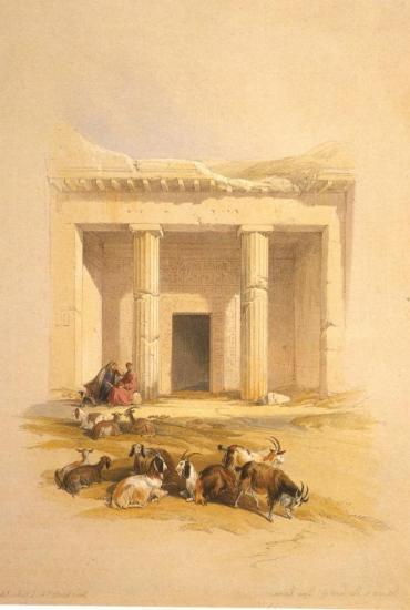 Entrée des tombes de Béni Hassan