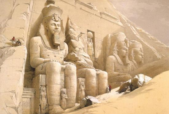 Façade du grand temple d'Abou Simbel
