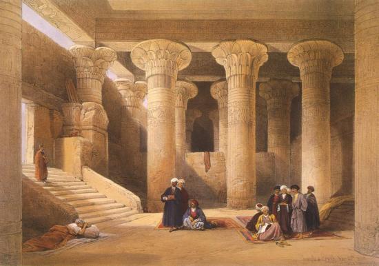 Intérieur du temple d'Esneh
