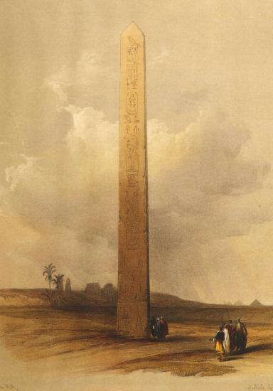 L'obélisque d'Héliopolis 1839