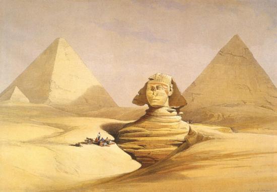 Le grand Sphinx et la pyramide de Giseh