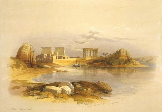 Le Nil et l'ile de Philae