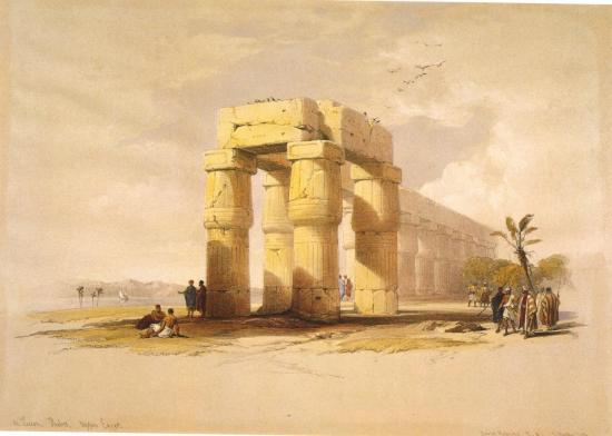 Les ruines de Louxor