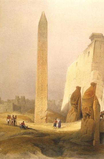 Obélisque et temple de Louxor 1838