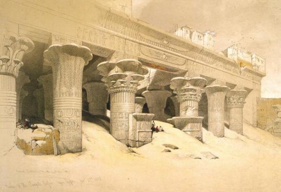 Portique de temple d'Efnou