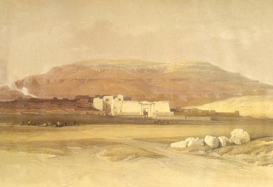 Vue des ruines du temple de Medinet Habou Thèbes