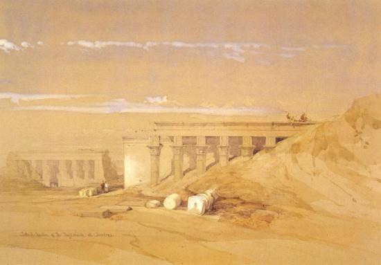 Vue du temple de Dendérah