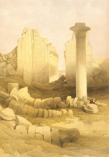 Vue du temple de Karnak 1838