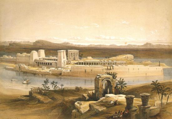Vue générale de l'ile de Philae