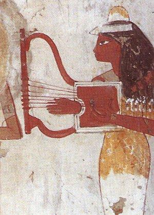 Musicienne dans la tombe de Djeserkareseneb