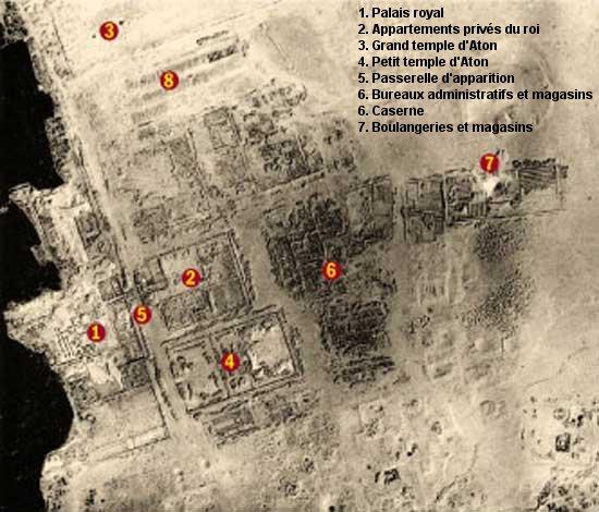 Nécropole de Tell el-Amarna vue du ciel