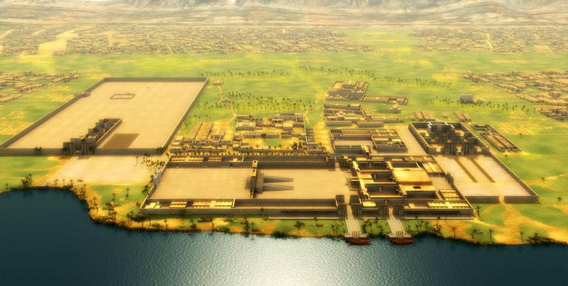 Reconstitution de la nécropole de Tell el-Amarna