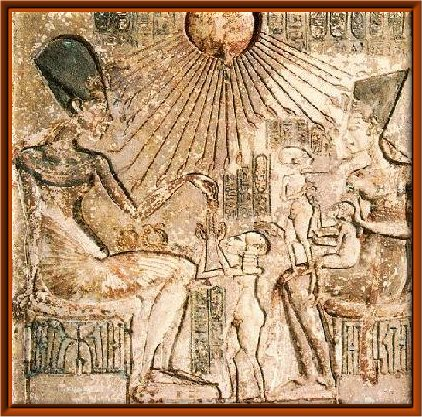 Le couple royal Akhenaton et Néfertiti