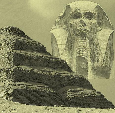 Le pharon Djoser et sa pyramide à degrés de Saqqarah