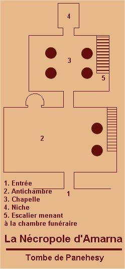 Plan de la tombe Panehesy