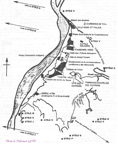 Carte de la Nécropole de Tell el-Amarna