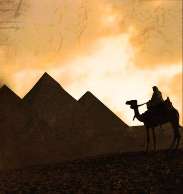 La grande pyramide de Khéops sur le plateau de Gizeh