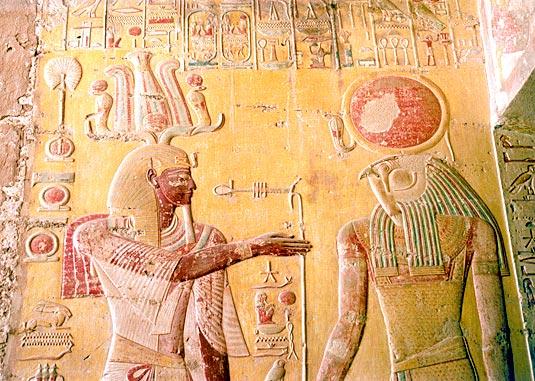 Décoration à l'interieur de la tombe de merenptah