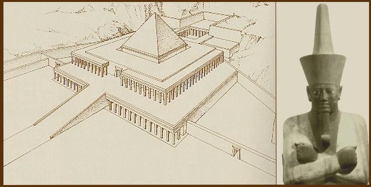 Temple funéraire de Mentehoutep à  Deir el Bahari