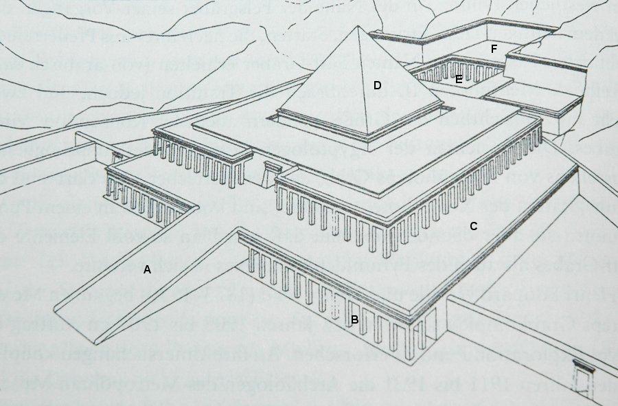 Mentuhotepii tempel rekonstruktion 1