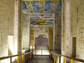 Intérieure de la tombe de Ramsès IV