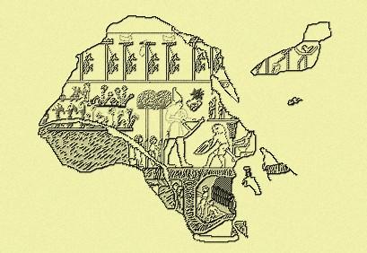 La tête de massue montre un souverain portant la couronne blanche de Haute-Egypte