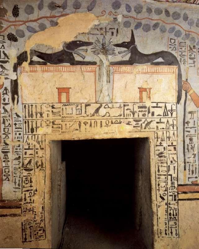 entree de la chambre funéraire de la tombe de Sennefer