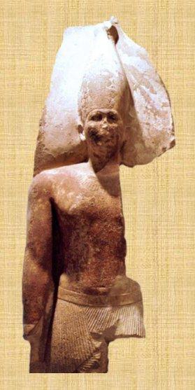 Statue de Snéfrou au musée égyptien du Caire