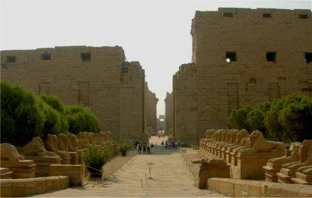 L'allée processionnelle de Karnak