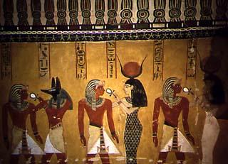 Décoration dans la tombe de Thoutmosis IV