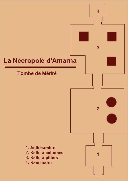 Plan de la tombe de Meryrê