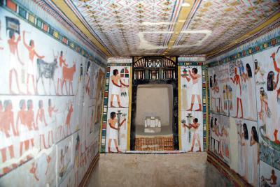 tombeau de menna une des plus belles tombes de la vallée des nobles